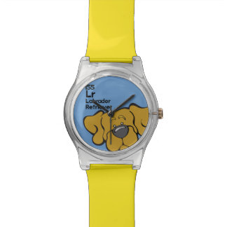 Yellow Lab - The Dog Table Wrist Watches