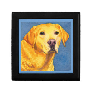 "Yellow Lab Tile Box - ""Mixsy"""