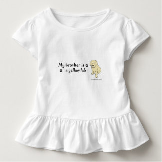 yellow lab toddler t-shirt