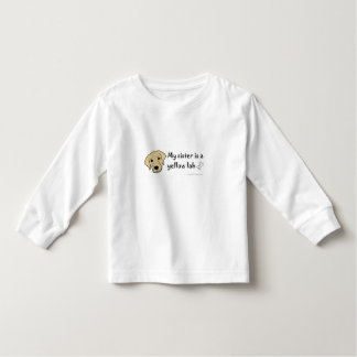 yellow lab toddler t-shirt