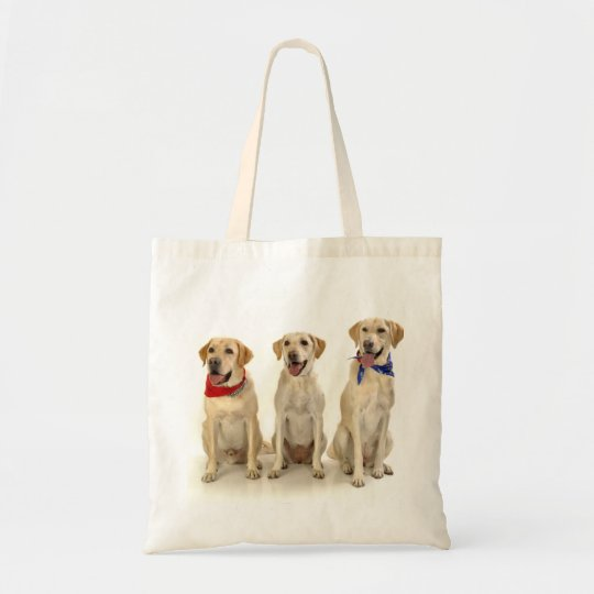 Yellow Lab Trio Tote Bag