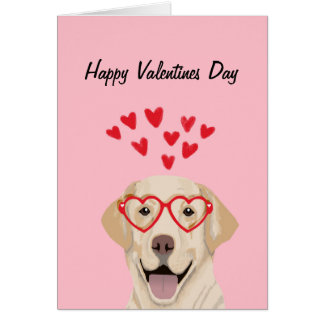 Yellow Lab - valentines love card - dog love