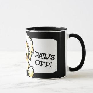 Yellow Labradoodle Paws Off Mug