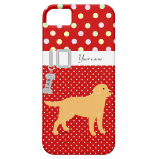 Yellow Labrador 2 with a Little Tongue Case For The iPhone 5