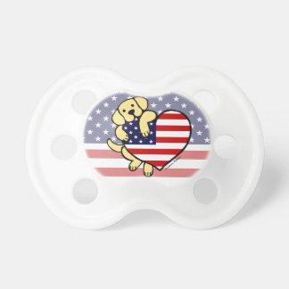 Yellow Labrador American Heart 2 Pacifier