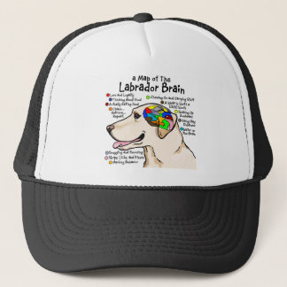 Yellow Labrador Brain Atlas Trucker Hat