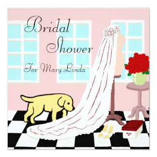 Yellow Labrador Bridal Shower Card