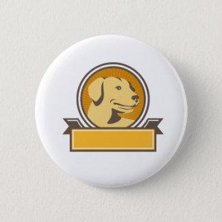 Yellow Labrador Golden Retriever Head Circle Retro 2 Inch Round Button