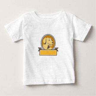 Yellow Labrador Golden Retriever Head Circle Retro Baby T-Shirt