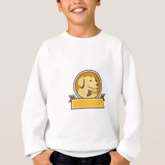 Yellow Labrador Golden Retriever Head Circle Retro Sweatshirt