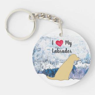 Yellow Labrador - I Love My Labrador Keychain