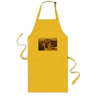 yellow labrador love w pic long apron