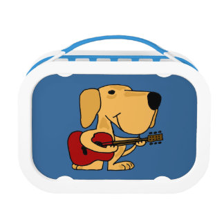 Yellow Labrador Playing Guitar Lunchbox