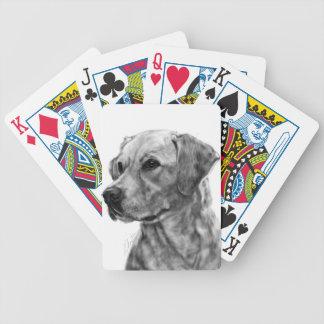 Yellow Labrador Poker Deck