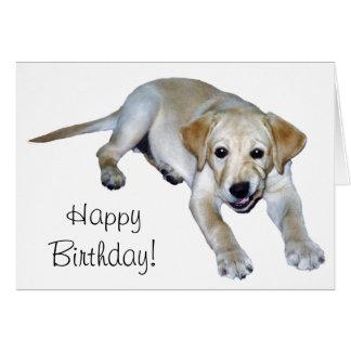 Yellow Labrador Puppy Card