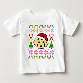 Yellow Labrador Puppy Christmas Pattern Baby T-Shirt