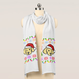 Yellow Labrador Puppy Christmas Pattern Scarf