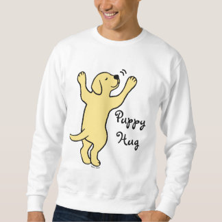 Yellow Labrador Puppy Hug Cartoon Sweatshirt