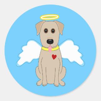 Yellow Labrador Retriever Angel Stickers