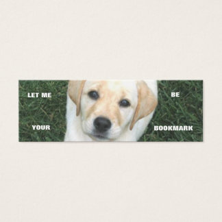 Yellow Labrador Retriever Bookmark Mini Business Card
