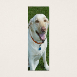 Yellow Labrador Retriever Bookmark with Initials Mini Business Card