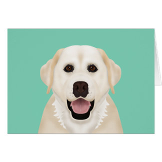 yellow labrador retriever cartoon card
