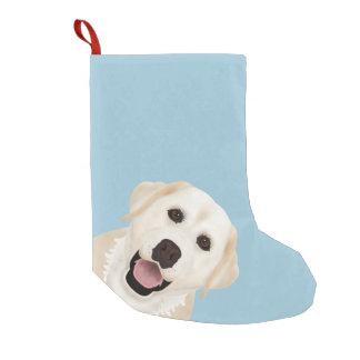 yellow labrador retriever cartoon small christmas stocking