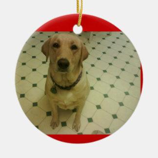 yellow Labrador retriever Ceramic Ornament
