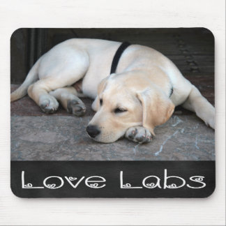 Yellow Labrador Retriever  Chalkboard Mousepad