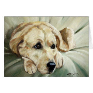 Yellow Labrador Retriever Dog Card