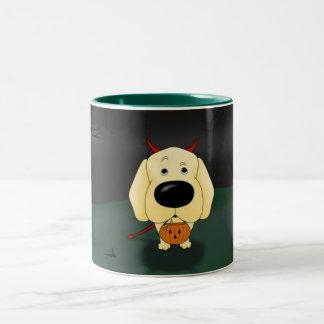 Yellow Labrador Retriever Halloween Coffee Mug