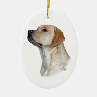 Yellow Labrador Retriever head ornament