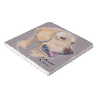 Yellow Labrador Retriever Portrait Trivet