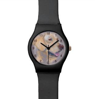 Yellow Labrador Retriever Portrait Watches
