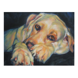 Yellow Labrador Retriever postcard