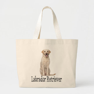 Yellow Labrador Retriever Puppy Dog Love Labs Large Tote Bag