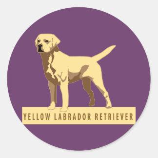 Yellow Labrador Retriever Round Sticker