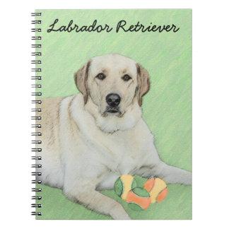Yellow Labrador Retriever & Tennis Balls Painting Notebook