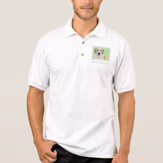 Yellow Labrador Retriever & Tennis Balls Painting Polo Shirt