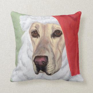 Yellow Labrador Santa Pillow