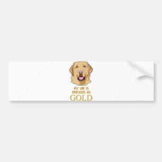 Yellow Labrador Shirt : Lab-PreciousAs-Gold Bumper Sticker