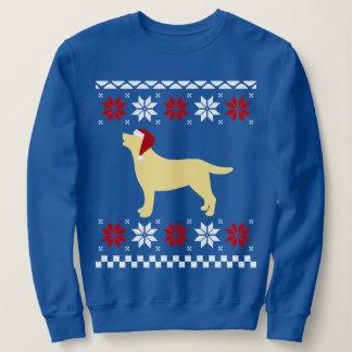 Yellow Labrador Silhouette Santa Christmas Sweatshirt
