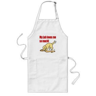 Yellow Labrador Stocking Cartoon Long Apron
