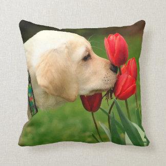 Yellow Labrador - Take Time Throw Pillow