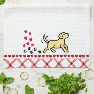 Yellow Labrador Trotting Kitchen Towel