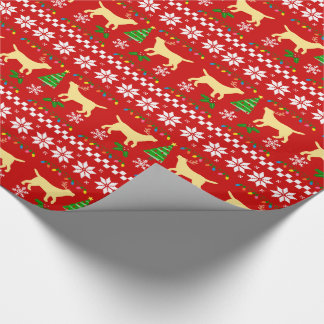 Yellow Labrador Ugly Christmas Pattern Wrapping Paper