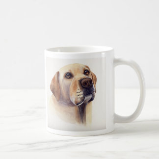 Yellow Labrador with breed information text Coffee Mug