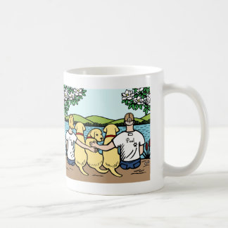 Yellow Labradors and Parents Portrait Coffee Mug