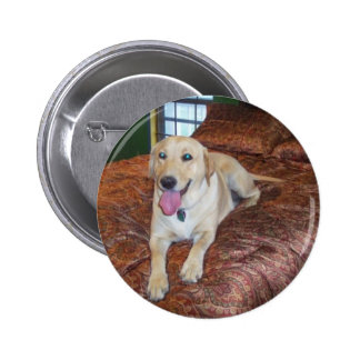 YELLOW LABS 2 INCH ROUND BUTTON