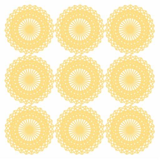 Yellow Lace Design Pattern. Photo Cut Out